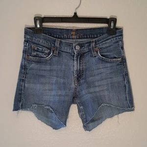 7 For All Mankind - Cut-Off Jean Shorts